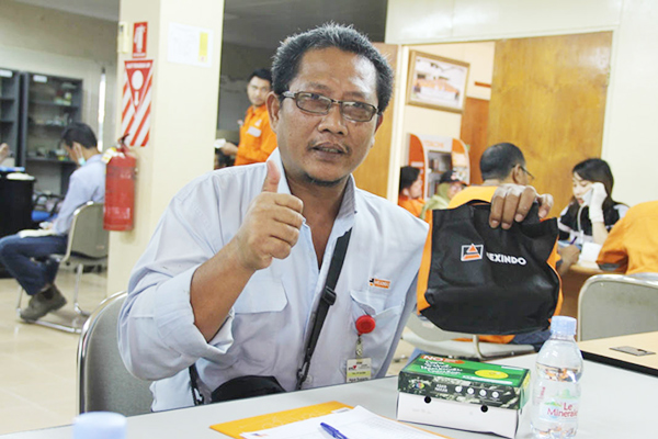 Hexindo Blood Donation in 3 Cities